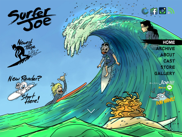 "Web comic ""Surfer Joe"" was launched."