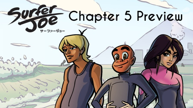 A Chapter 5 Sneak Peek, with updated character designs and preview pages